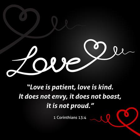 sfondo amore cristiano con il bianco cuore astratto su sfondo nero disegno.