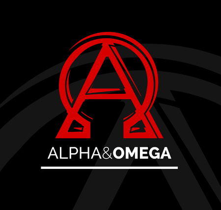 Concept Icon Design Of Alpha And Omega Symbol From Beginning
