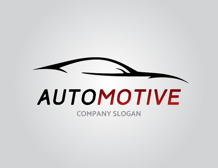 Automotive car icon design with concept sports vehicle silhouette isolated on light grey . Vector illustration.