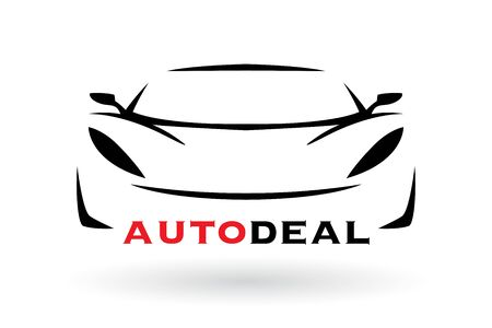 Automotive dealer concept icon design with sports car vehicle silhouette. Vector illustration Illusztráció