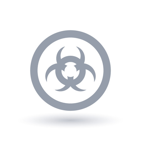 Caution contamination sign. Beware biohazard waste icon. Toxic danger symbol in circle. Vector illustration. 写真素材 - 98667611