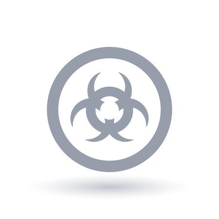 Caution contamination sign. Beware biohazard waste icon. Toxic danger symbol in circle. Vector illustration.