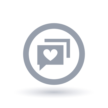 Social chat with heart icon vector illustration.