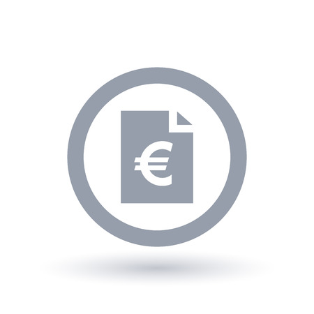 Paper Euro Bill Icon European Money Document Symbol Finance