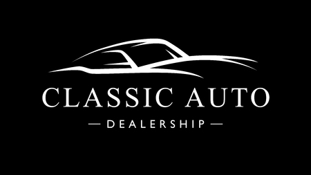 Classic retro style sports car dealership icon. Motor vehicle auto garage silhouette. Vector illustration.