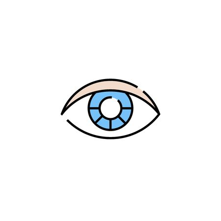 Human eye line icon. Abstract vision symbol. Eyesight graphic isolated on white background. Vector illustration.