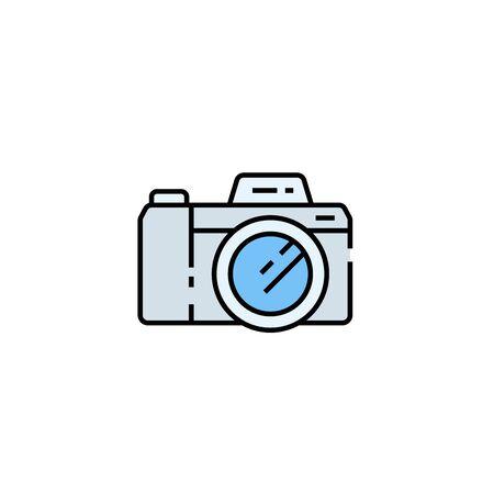 Camera line icon. Digital photography Symbol. Vector illustration.