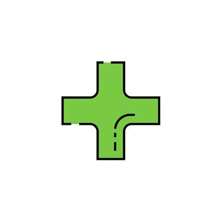 Plus line icon. Addition sign. Add symbol. Vector illustration.