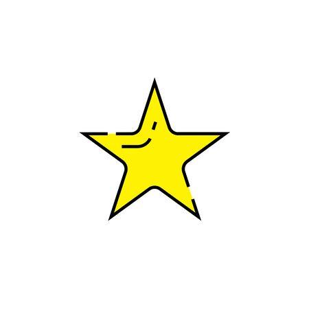 Star line icon. Shape symbol. Vector illustration. Illustration