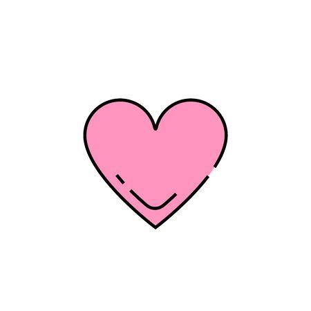 Heart line icon. Love sign. Pink valentines symbol. Vector illustration. Illustration