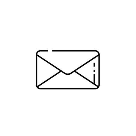 Email line icon. Post mail symbol. Envelope sign. Vector illustration.