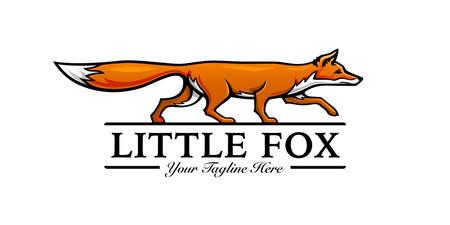 Little fox  template design. Vector illustration.