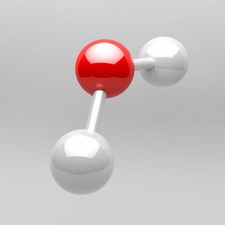 water molecule: Mol�cula de agua Foto de archivo