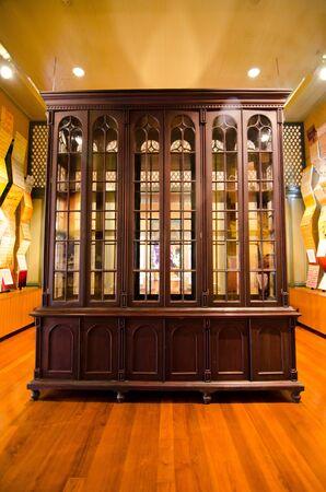 wooden dresser classic in room Editorial