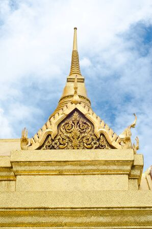 Traditional golden Thai church in the royal palace , Thailand