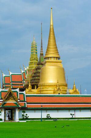 Wat Pra Kaew Royal Palace in Bangkok, Thailand  Stock Photo