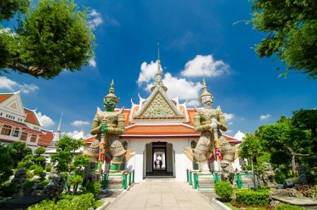 Giant at churches temple of dawn, Bankok Thailand