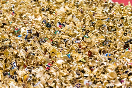 Golden rings collection, many of ring