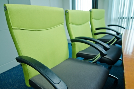 Office space and meeting table, green photo