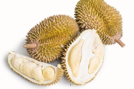 Durian  thai fruit isolated on white background Stock Photo