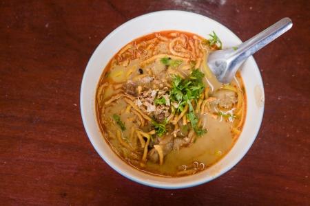 soi: Kaow Soi Kai Curry Noodles Of Thailand local food Stock Photo