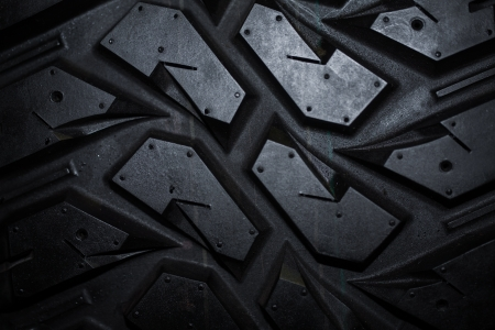 Close up of truck tire texture, background