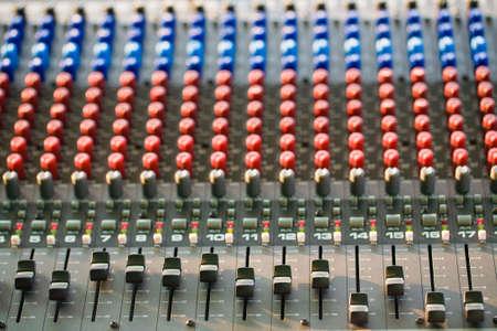 Music control panel device closeup, Adjust