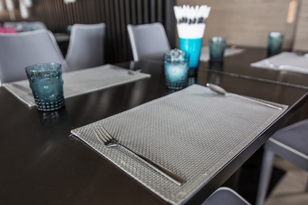 Modern dining table, Blank table photo