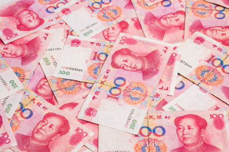 backgroung: Chinas currency. Chinese banknotes. note backgroung Stock Photo