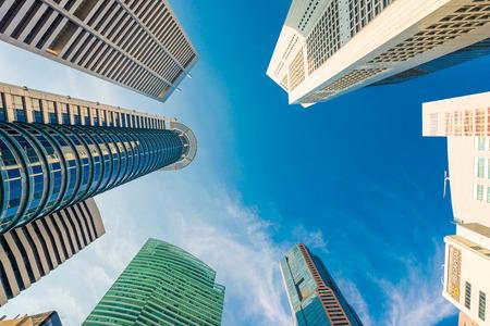 Fenstern des modernen Bürogebäude, Wolkenkratzer Business Office, Corporate Gebäude in Singapur