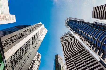 Windows of  modern office buildings, Skyscraper Business Office, Corporate building in Singapore