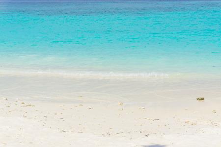 Tropical beach with blue Sky and sea. Scene Beach at Lipe Satun, Thailand