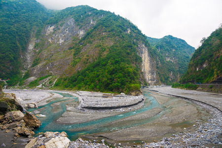 Taroko National Park, Taiwan Taroko National Park is one of the eight national parks in Taiwan. The park spans Taichung Municipality, Nantou County, and Hualien County. Stock Photo