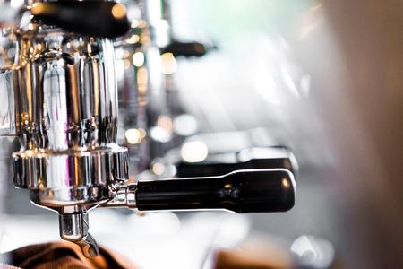 Professionellen Espresso-Kaffeemaschine, Close up Kaffeemaschine Standard-Bild