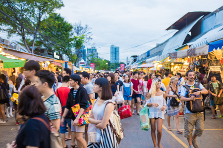 BANGKOK - OCTOBER 10: Tourist shopping in Chatuchak weekend market on October 10, 2015 in Bangkok, Thailand Open 8am - 6pm Sat Sun , It is the largest market in Thailand Sajtókép