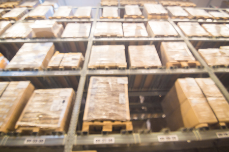 Blurred Warehouse Or Storehouse Shopping Home Decor In Department Store As  Background Photo