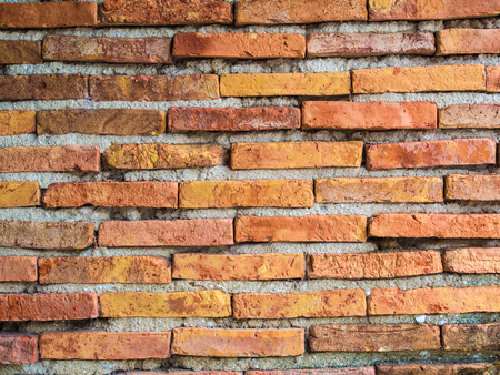 textured wall: Red brick wall texture background, brick wall texture in old house Stock Photo