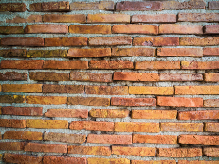 Red brick wall texture background, brick wall texture in old house Archivio Fotografico