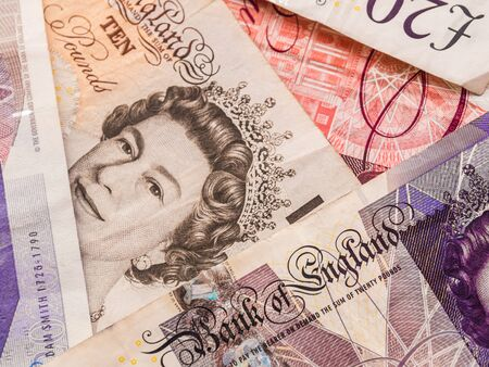 bank notes: GBP bank notes texture,  Pound currency Stock Photo