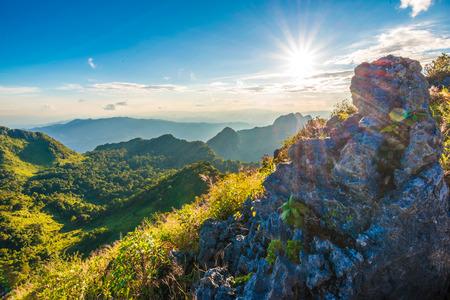 sub: Beautiful sunset in mountains, Chiangdao sub alpine Stock Photo