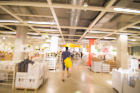 superstore: Blur department store with bokeh background, Superstore home mart
