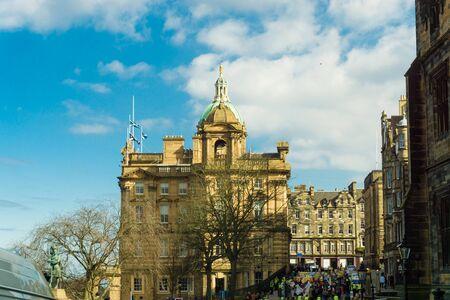 mile: Building of downtown the historic Royal Mile, Edinburgh, Scotland