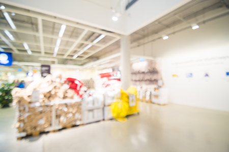 mart: Abstract blur image of home mart department store with bokeh for background usage .