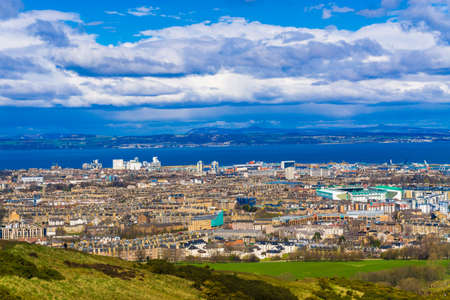 lothian: Edinburgh landscape skyline from Calton Hill, Scotland. United Kingdom Stock Photo