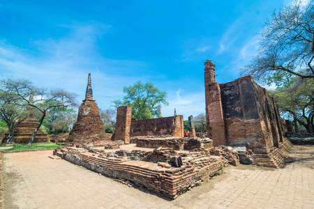phra nakhon si ayutthaya: Ayutthaya Historical Pagoda Park, Phra Nakhon Si Ayutthaya, Ayutthaya city,Old city of  Thailand.