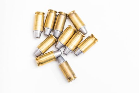 full metal jacket: bullet ammo isolated on white Stock Photo