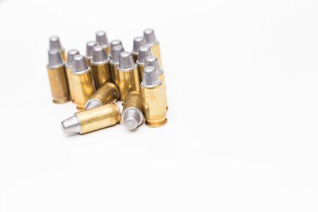 ammo: bullet ammo isolated on white Stock Photo