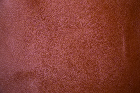 cuero vaca: Genuine brown textured cow leather background macro lens Foto de archivo