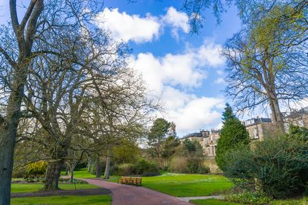 botanic: Royal Botanic Garden park center of Edinburgh city, Scotland