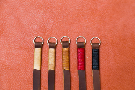 strap on: Genuine camera strap handmade with thread on leather, Craftmanship industry